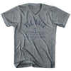 Tel Aviv Anchor Life on the Strand V-neck T-shirt in Athletic Grey by Life On the Strand
