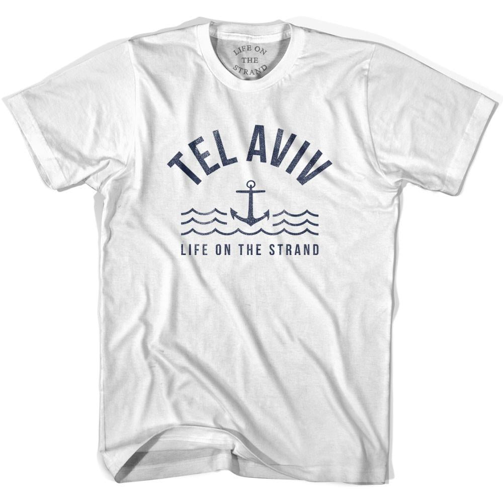 Tel Aviv Anchor Life on the Strand T-shirt in White by Life On the Strand