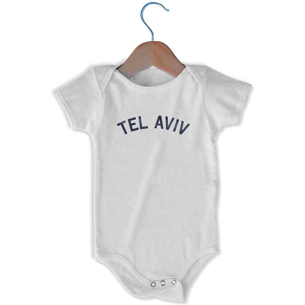 Tel Aviv City Infant Onesie in White by Mile End Sportswear