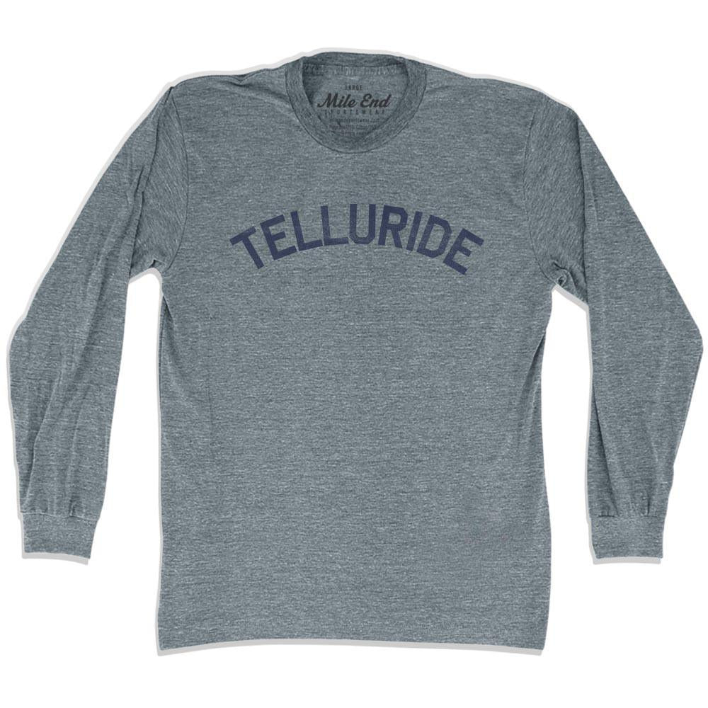 Telluride City Vintage Long Sleeve T-shirt in Athletic Grey by Mile End Sportswear