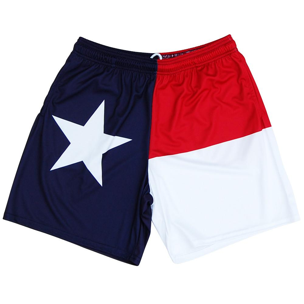 Texas Flag Athletic Shorts in Red White and Blue by Mile End Sportswear