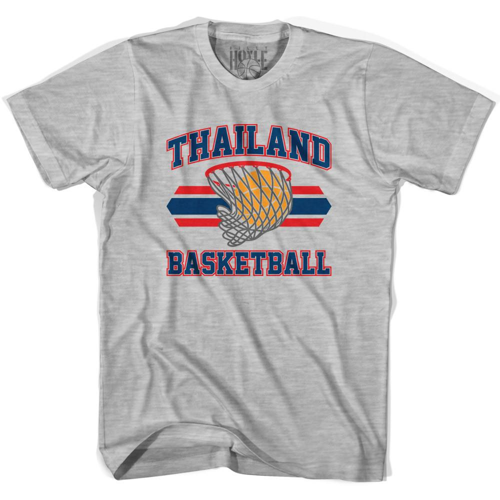 Thailand 90's Basketball T-shirts in Grey Heather by Billy Hoyle