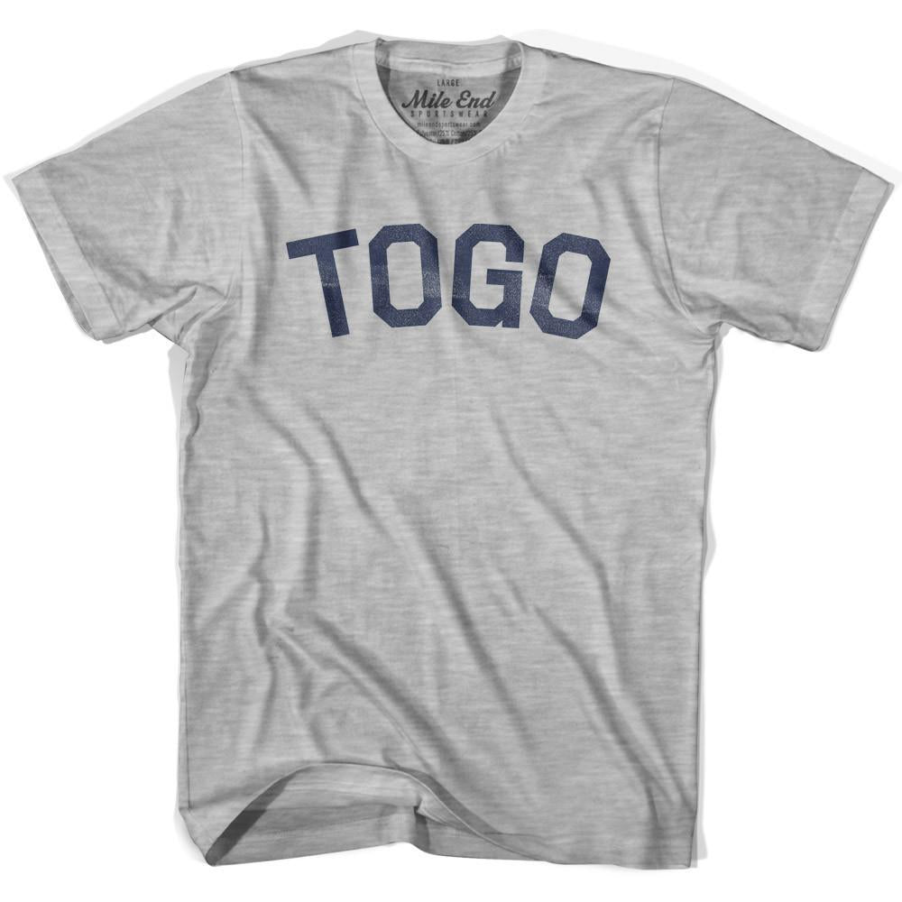 Togo City Vintage T-shirt in Grey Heather by Mile End Sportswear