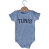 Tunis City Infant Onesie in Grey Heather by Mile End Sportswear