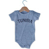 Tunisia City Infant Onesie in Grey Heather by Mile End Sportswear