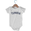 Tunisia City Infant Onesie in White by Mile End Sportswear