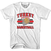 Turkey 90's Basketball T-shirts in Grey Heather by Billy Hoyle