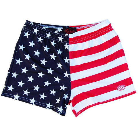 American Flag Jacks Rugby Game Shorts