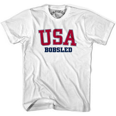USA Bobsled T-shirt in Heather Grey by Mile End Sportswear