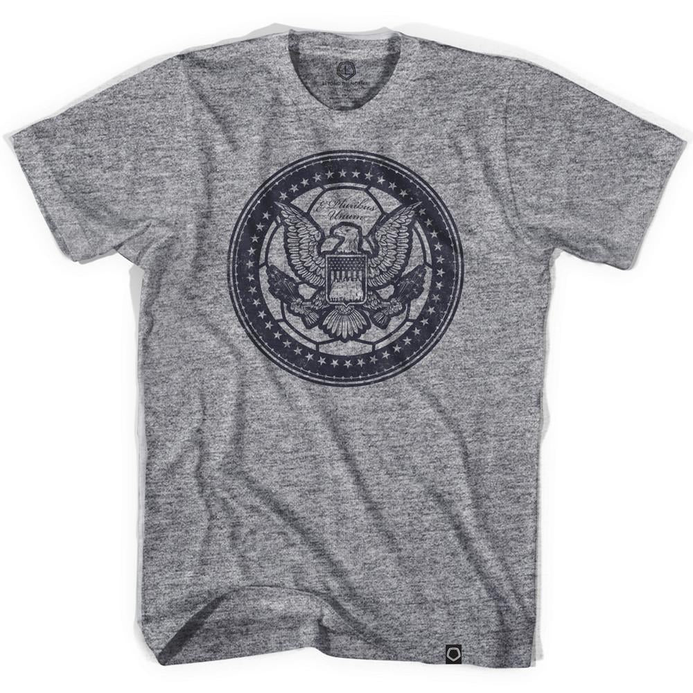 USA Eagle Soccer Ball T-shirt in Athletic Grey by Ultras
