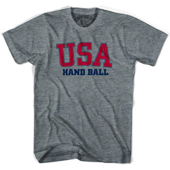 USA Hand Ball T-shirt in Athletic Grey by Mile End Sportswear