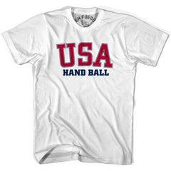 USA Hand Ball T-shirt in Heather Grey by Mile End Sportswear