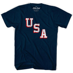 USA Miracle T-shirt in Navy by Mile End Sportswear