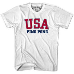 USA Ping Pong T-shirt in Heather Grey by Mile End Sportswear