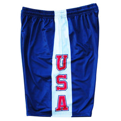 USA Sideline Lacrosse Shorts in Navy by Tribe Lacrosse