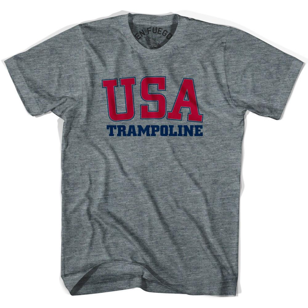 USA Trampoline T-shirt in Athletic Grey by Mile End Sportswear