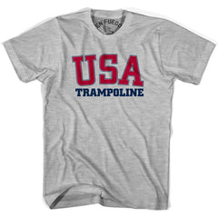 USA Trampoline T-shirt in Heather Grey by Mile End Sportswear
