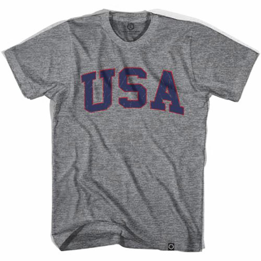 USA Vintage Soccer T-shirt in Athletic Grey by Ultras