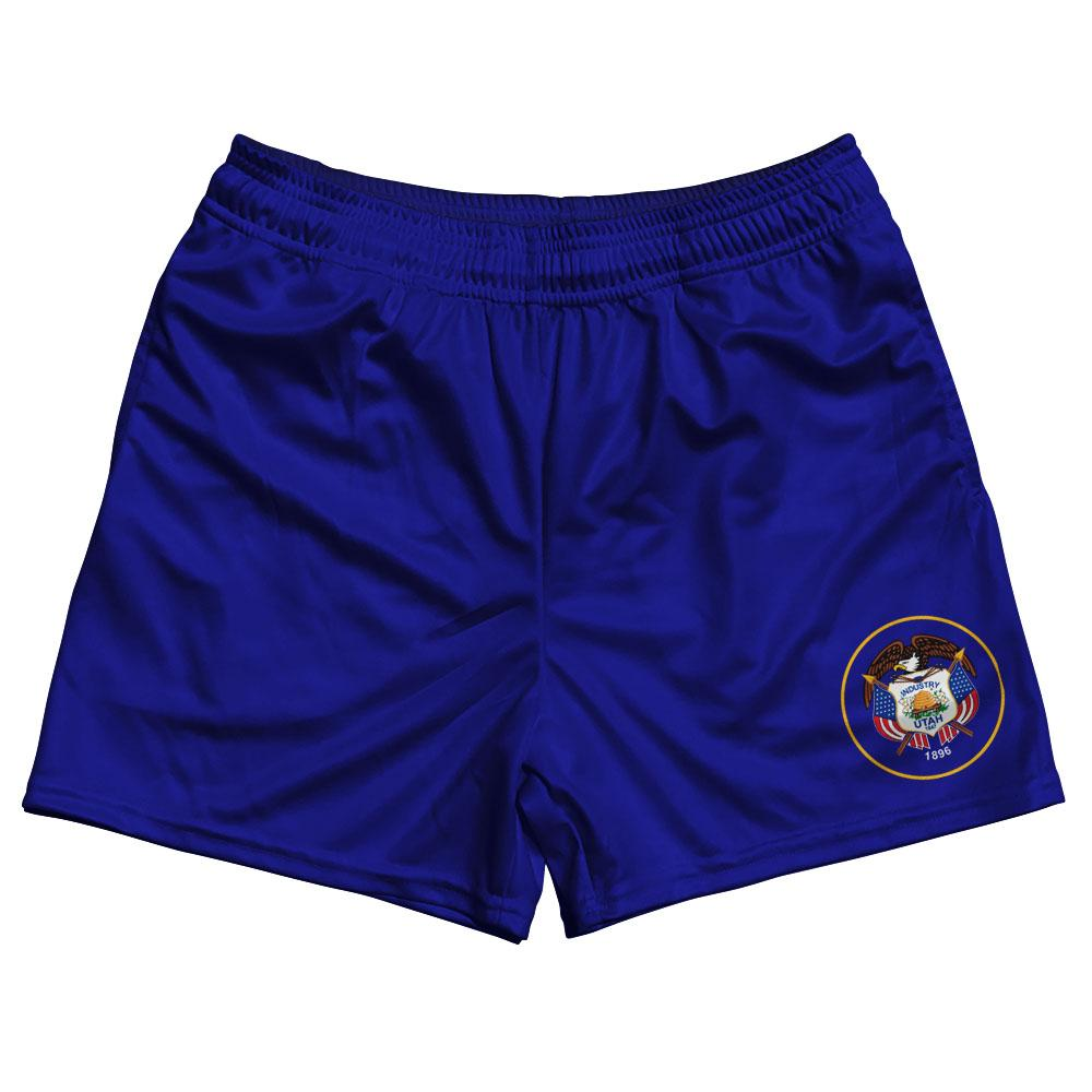Utah State Flag Rugby Shorts Made In USA by Ruckus