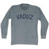 Vaduz City Vintage Long Sleeve T-shirt in Athletic Grey by Mile End Sportswear