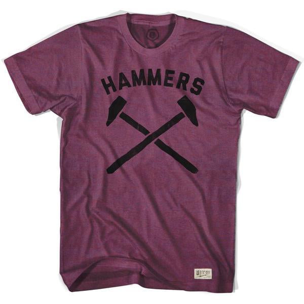 West Ham Hammers Soccer T-shirt in Cranberry by Ultras