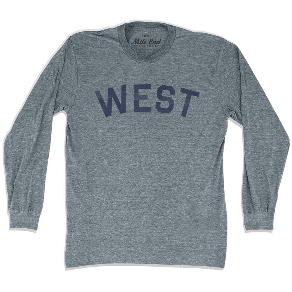 West City Vintage Long Sleeve T-shirt in Athletic Grey by Mile End Sportswear