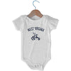 West Viginia City Tricycle Infant Onesie in White by Mile End Sportswear