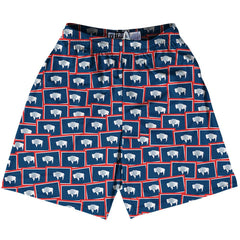 Tribe Wyoming State Party Flags Lacrosse Shorts by Tribe Lacrosse