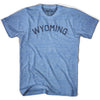 Wyoming Union Vintage T-shirt in Athletic Blue by Mile End Sportswear