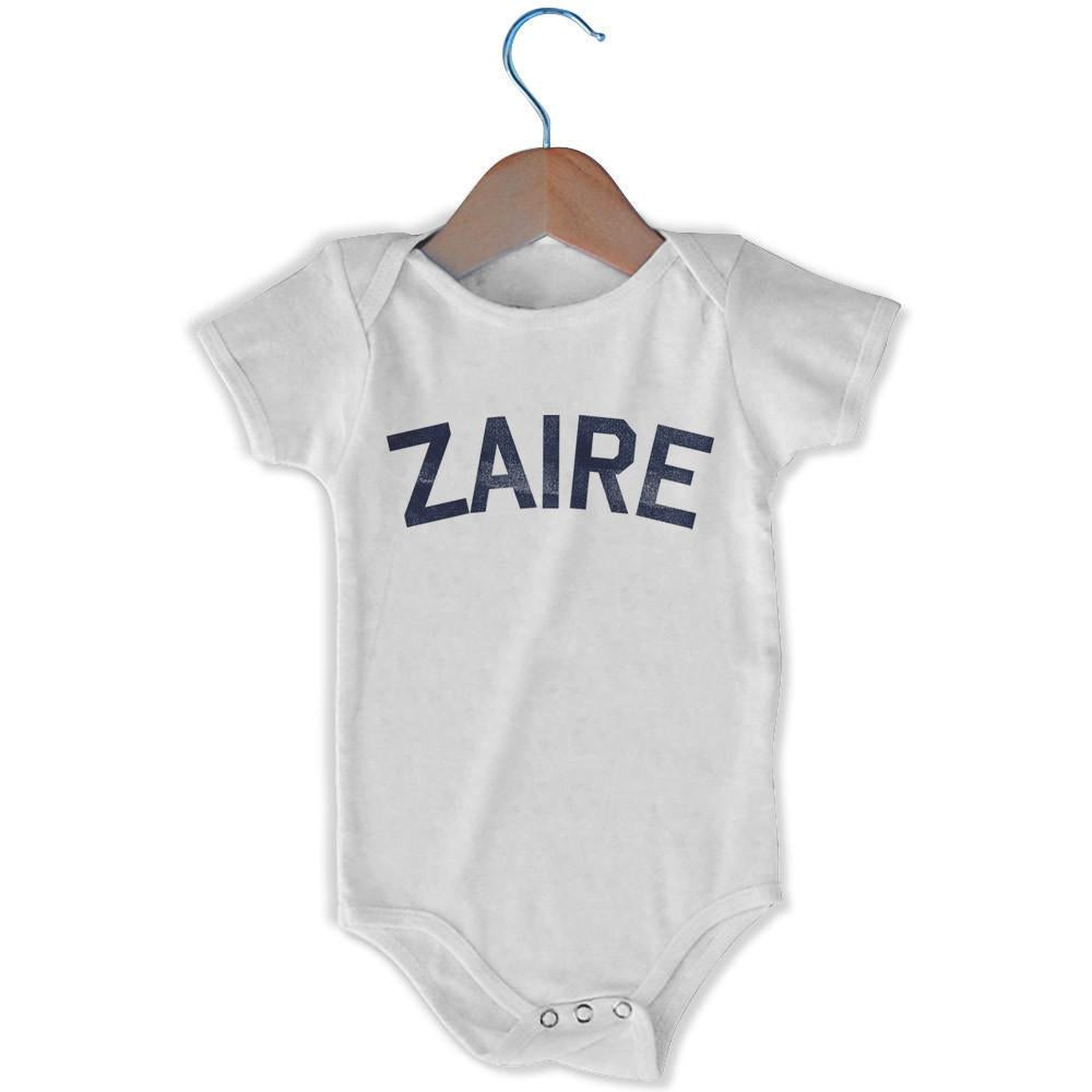 Zaire City Infant Onesie in White by Mile End Sportswear