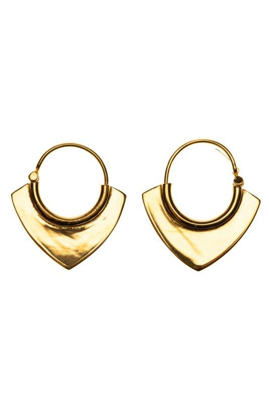 Tiny African hoop gold - plated Xzota