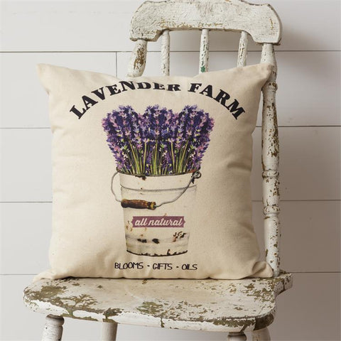 Lavender Farms Potted Flowers Garden Throw Pillow