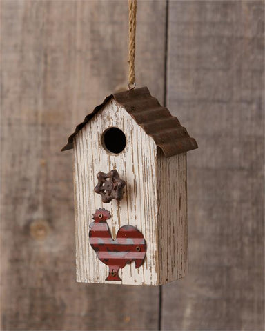 Rustic Rooster Birdhouse