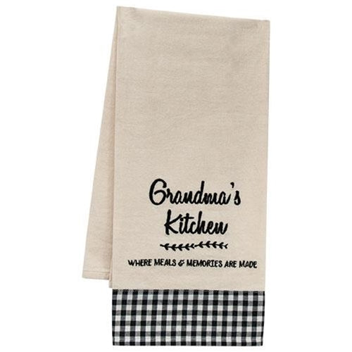 Grandma's Kitchen Where Meals & Memories are Made Dish Towel