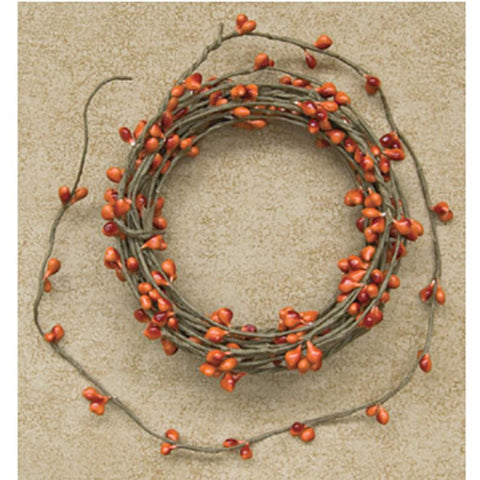 Orange Pip Berry Garland - 6 Foot