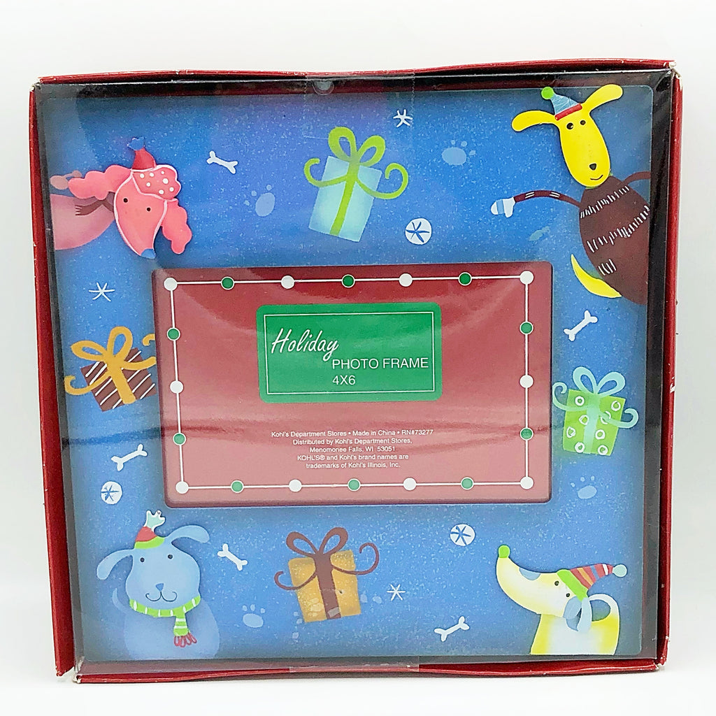 "Festive Dogs Christmas Photo Frame 4"" x 6"" photos Kohl's"