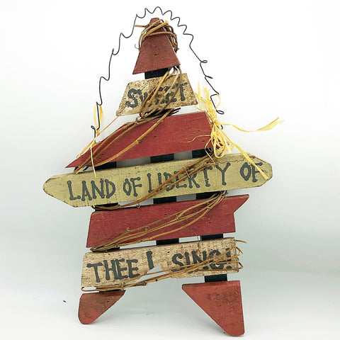 Primitive Sweet Land of Liberty Hanging Star