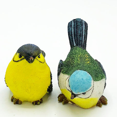 Set of 2 Natural Spring Bird Figures