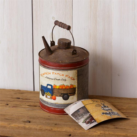 Nostalgic Oil Can with 3 Interchangeable Seasonal Magnets