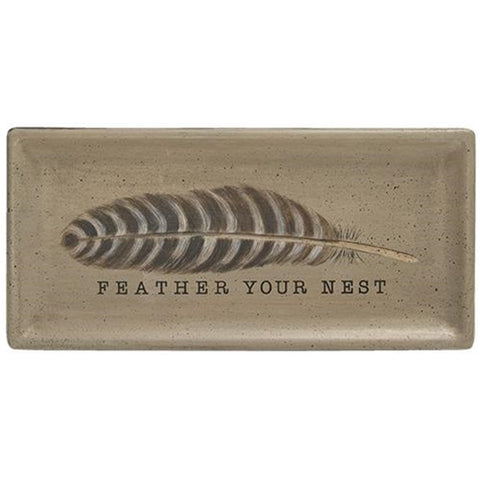 Feather Your Nest Wooden Tray