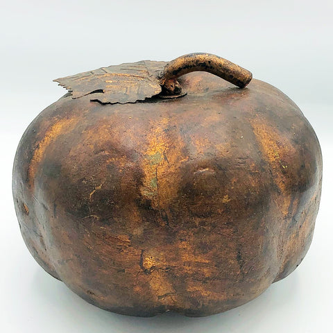 Coppery Rustic Resin and Metal Pumpkin