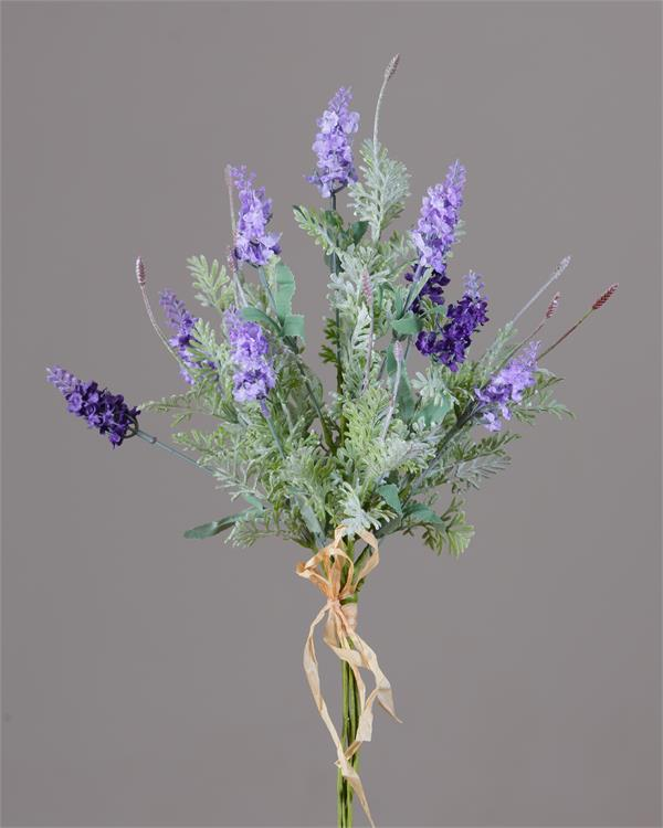 "Lavender Spikes and Foliage 18"" Faux Spray"