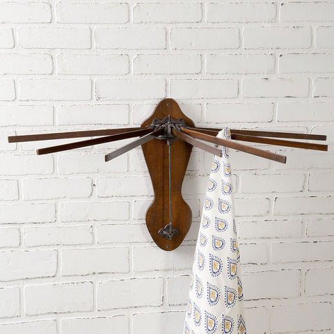 Vintage-Style Wooden Wall Mounted Drying Rack
