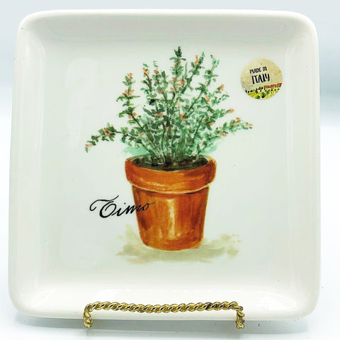 Effetti Square Herb Appetizer Plate Timo Made in Italy