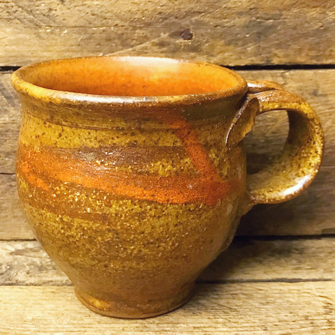 Handcrafted Earth Tones Pottery Mug