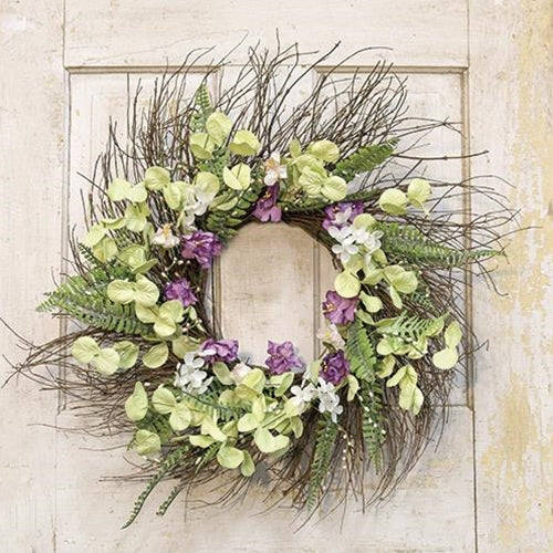 "Lakeside Mix Wildflower Sunburst 22"" Wreath"