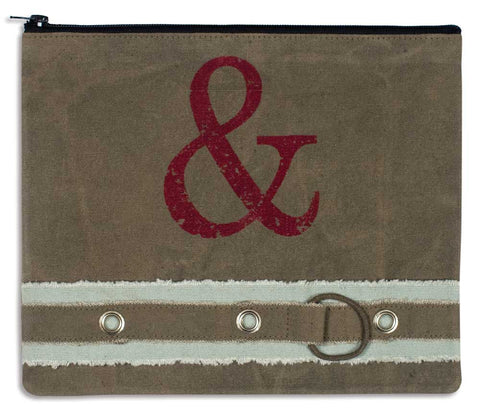 Ampersand Canvas Travel Bag