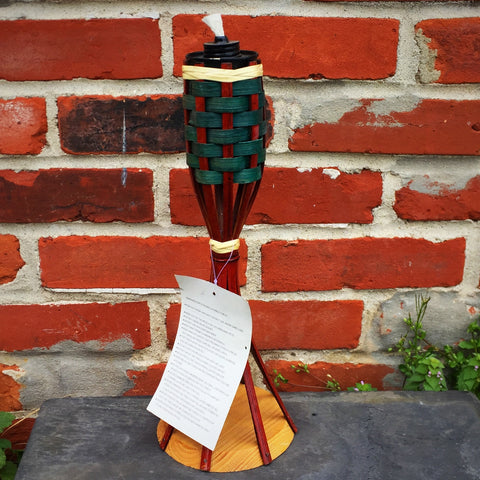 Bamboo Table Torch - brown and green
