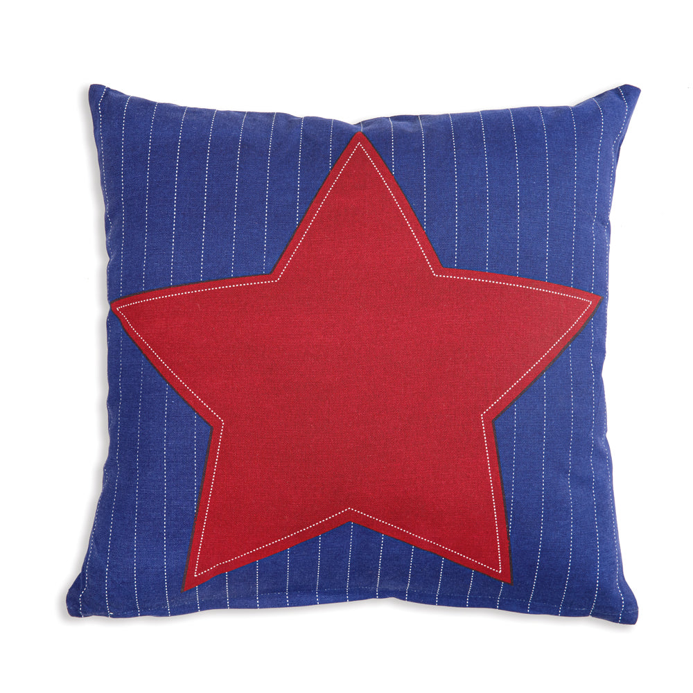 Red Star Americana Cotton Throw Pillow