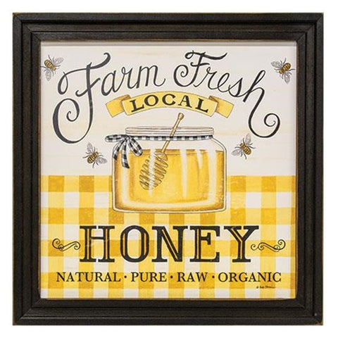 "Farm Fresh Honey Framed 12"" Square Print"